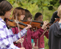 8140 Vashon Youth String Orchestra at the Green Stage 2010
